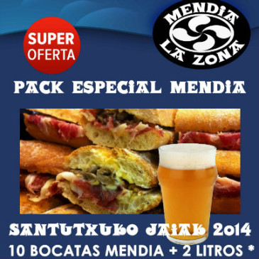 Pack especial Mendia Santutxuko Jaiak 2014